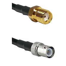 SMA Reverse Thread Female on LMR-195-UF UltraFlex to BNC Reverse Polarity Female Coaxial Cable Assem
