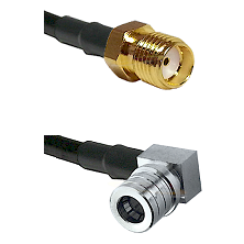 SMA Reverse Thread Female on LMR-195-UF UltraFlex to QMA Right Angle Male Cable Assembly