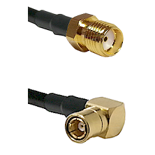 SMA Reverse Thread Female on LMR-195-UF UltraFlex to SMB Right Angle Female Cable Assembly