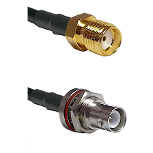 SMA Reverse Thread Female on LMR-195-UF UltraFlex to SHV Bulkhead Jack Cable Assembly
