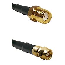SMA Reverse Thread Female on LMR-195-UF UltraFlex to SMC Female Cable Assembly