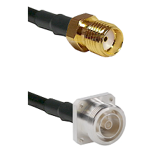 SMA Reverse Thread Female on LMR200 UltraFlex to 7/16 4 Hole Female Cable Assembly