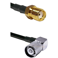 SMA Reverse Thread Female Connector On LMR-240UF UltraFlex To SC Right Angle Male Connector Coaxial