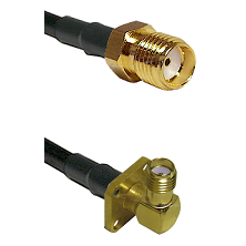 SMA Reverse Thread Female Connector On LMR-240UF UltraFlex To SMA 4 Hole Right Angle Female Connecto