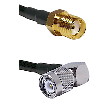 SMA Reverse Thread Female Connector On LMR-240UF UltraFlex To TNC Right Angle Male Connector Coaxial