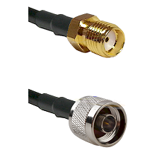 SMA Reverse Thread Female Connector On LMR-240UF UltraFlex To N Reverse Thread Male Connector Coaxia