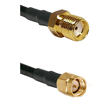 SMA Reverse Thread Female Connector On LMR-240UF UltraFlex To SMA Reverse Thread Male Connector Coax