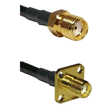 SMA Reverse Thread Female Connector On LMR-240UF UltraFlex To SMA 4 Hole Female Connector Coaxial Ca