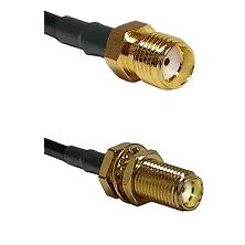 SMA Reverse Thread Female Connector On LMR-240UF UltraFlex To SMA Female Bulkhead Connector Coaxial
