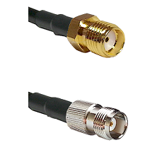 SMA Reverse Thread Female Connector On LMR-240UF UltraFlex To TNC Female Connector Coaxial Cable Ass