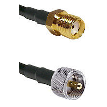 SMA Reverse Thread Female Connector On LMR-240UF UltraFlex To UHF Male Connector Coaxial Cable Assem