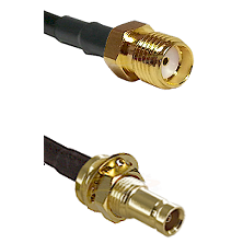 SMA Reverse Thread Female on RG142 to 10/23 Female Bulkhead Cable Assembly