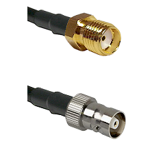 SMA Reverse Thread Female on RG142 to C Female Cable Assembly