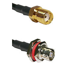 SMA Reverse Thread Female on RG142 to C Female Bulkhead Cable Assembly