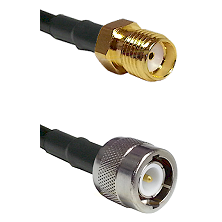 SMA Reverse Thread Female on RG142 to C Male Cable Assembly
