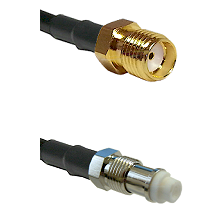 SMA Reverse Thread Female on RG142 to FME Female Cable Assembly