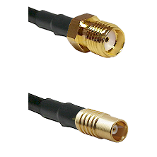SMA Reverse Thread Female on RG142 to MCX Female Cable Assembly