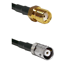 SMA Reverse Thread Female on RG142 to MHV Female Cable Assembly