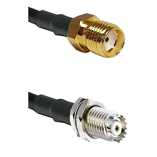 SMA Reverse Thread Female on RG142 to Mini-UHF Female Cable Assembly