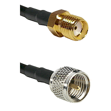 SMA Reverse Thread Female on RG142 to Mini-UHF Male Cable Assembly