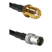 SMA Reverse Thread Female on RG400 to BNC Female Cable Assembly