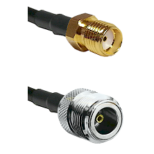 SMA Reverse Thread Female on RG400 to N Female Cable Assembly