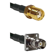 SMA Reverse Thread Female on RG400 to TNC 4 Hole Female Cable Assembly