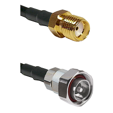 SMA Reverse Thread Female on RG58C/U to 7/16 Din Male Cable Assembly