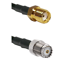 SMA Reverse Thread Female on RG58 to Mini-UHF Female Cable Assembly