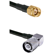 SMA Reverse Thread Male on Belden 83242 RG142 to SC Right Angle Male Cable Assembly