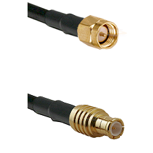 SMA Reverse Thread Male on LMR100 to MCX Male Cable Assembly