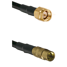 SMA Reverse Thread Male on LMR100 to MMCX Female Cable Assembly