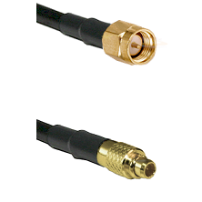 SMA Reverse Thread Male on LMR100 to MMCX Male Cable Assembly