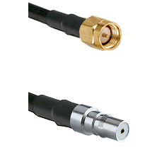 SMA Reverse Thread Male on LMR100 to QMA Female Cable Assembly
