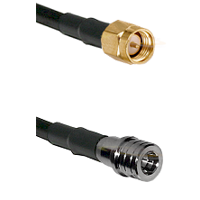 SMA Reverse Thread Male on LMR100 to QMA Male Cable Assembly