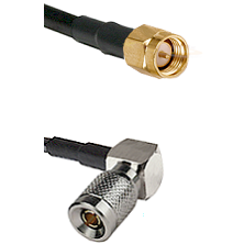 SMA Reverse Thread Male on LMR-195-UF UltraFlex to 10/23 Right Angle Male Cable Assembly