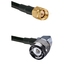 SMA Reverse Thread Male on LMR-195-UF UltraFlex to C Right Angle Male Cable Assembly