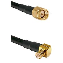 Reverse Thread SMA Male To Right Angle MCX Male Connectors LMR-195-UF UltraFlex Custom Coaxia