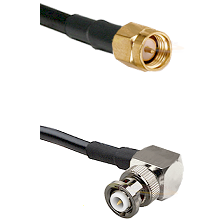 SMA Reverse Thread Male on LMR-195-UF UltraFlex to MHV Right Angle Male Cable Assembly