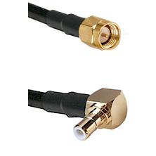 Reverse Thread SMA Male To Right Angle SMB Male Connectors LMR-195-UF UltraFlex Custom Coaxia