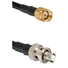 SMA Reverse Thread Male on LMR-195-UF UltraFlex to SHV Plug Cable Assembly