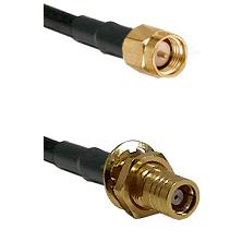 Reverse Thread SMA Male To SMB Female Bulk Head Connectors LMR-195-UF UltraFlex Custom Coaxia