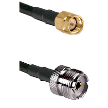 Reverse Thread SMA Male On LMR200 UltraFlex To UHF Female Connectors Cable Assembly