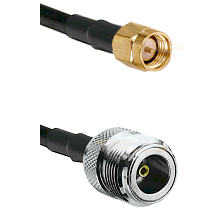 Reverse Thread SMA Male On LMR400UF To N Female Connectors Ultra Flex Coaxial Cable