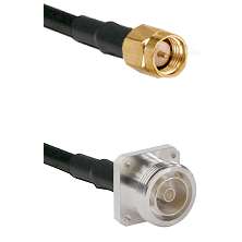 SMA Reverse Thread Male on RG142 to 7/16 4 Hole Female Cable Assembly