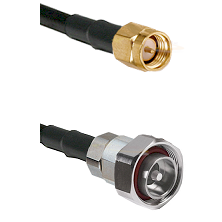 SMA Reverse Thread Male on RG142 to 7/16 Din Male Cable Assembly