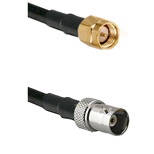 SMA Reverse Thread Male on RG142 to BNC Female Cable Assembly
