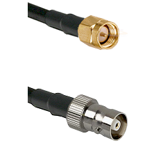 SMA Reverse Thread Male on RG142 to C Female Cable Assembly