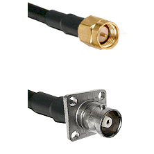 SMA Reverse Thread Male on RG142 to C 4 Hole Female Cable Assembly