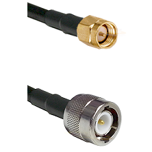 SMA Reverse Thread Male on RG142 to C Male Cable Assembly